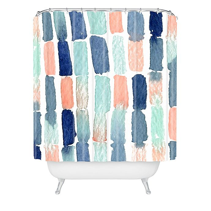 Alternate image 1 for Deny Designs Social Proper Timing Is Everything Shower Curtain in Blue