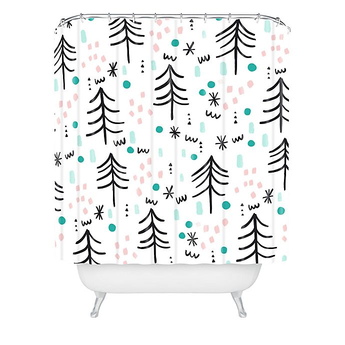 Alternate image 1 for Deny Designs Winter Wander Shower Curtain in Blue