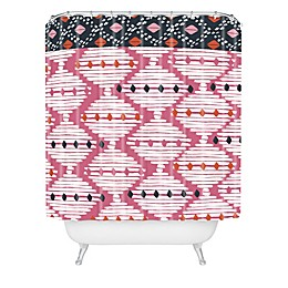 Deny Designs Zoe Wodarz The Beat Goes On Shower Curtain in Pink
