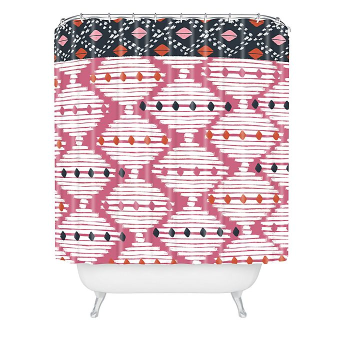 Alternate image 1 for Deny Designs Zoe Wodarz The Beat Goes On Shower Curtain in Pink