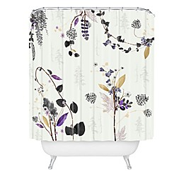 Deny Designs Woodland Dreams Shower Curtain in White