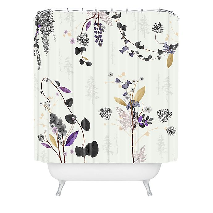 Alternate image 1 for Deny Designs Woodland Dreams Shower Curtain in White