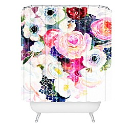 Deny Designs Stephanie Corfee Dark and Light Shower Curtain in Pink