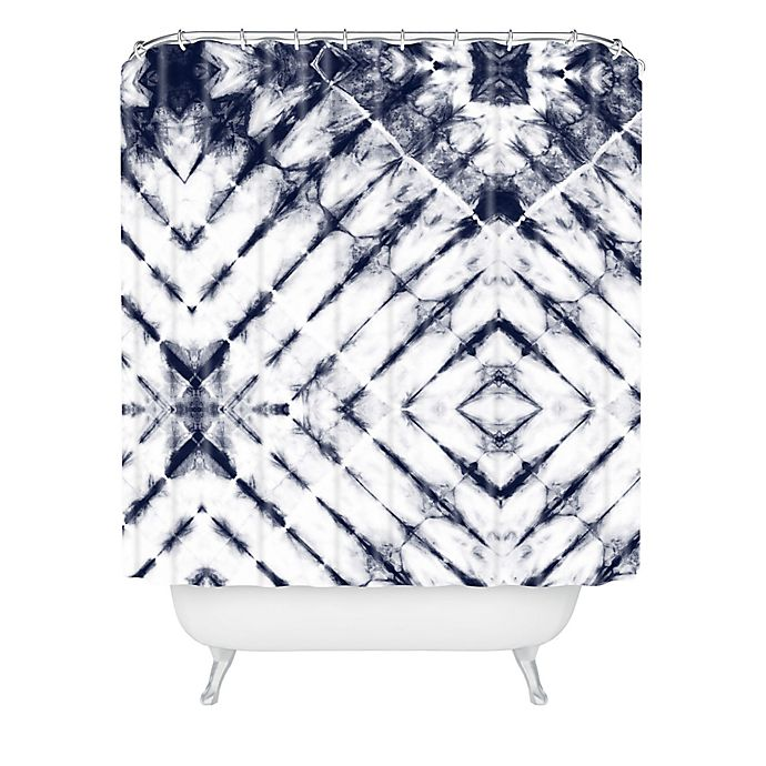 Alternate image 1 for Deny Designs Little Arrow Design Co Shibori Shower Curtain in Blue