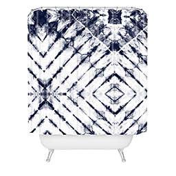 Deny Designs Little Arrow Design Co Shibori Shower Curtain in Blue