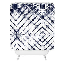 Deny Designs Little Arrow Design Co Shibori Shower Curtain in Blue