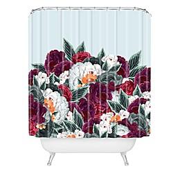 Deny Designs Iveta Abolina English Rose Shower Curtain in Blue