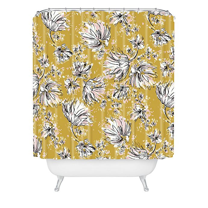 Alternate image 1 for Deny Designs Pattern State Floral Meadow Shower Curtain in Yellow