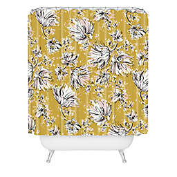 Deny Designs Pattern State Floral Meadow Shower Curtain in Yellow