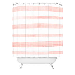 Deny Designs Kelly Haines Pink Stripes Shower Curtain