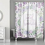Designs Direct Work Hard Stay Humble 74-Inch x 71-Inch Shower Curtain