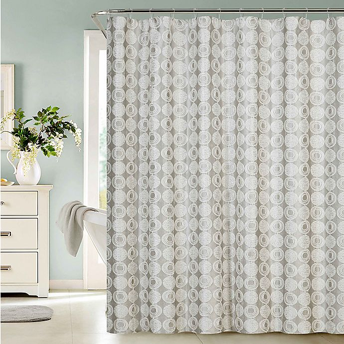 Alternate image 1 for Dainty Home Twilight Shower Curtain in Silver