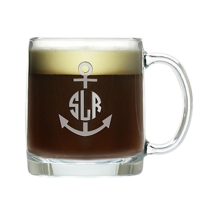 Alternate image 1 for Carved Solutions Anchor Circle Glass Mug