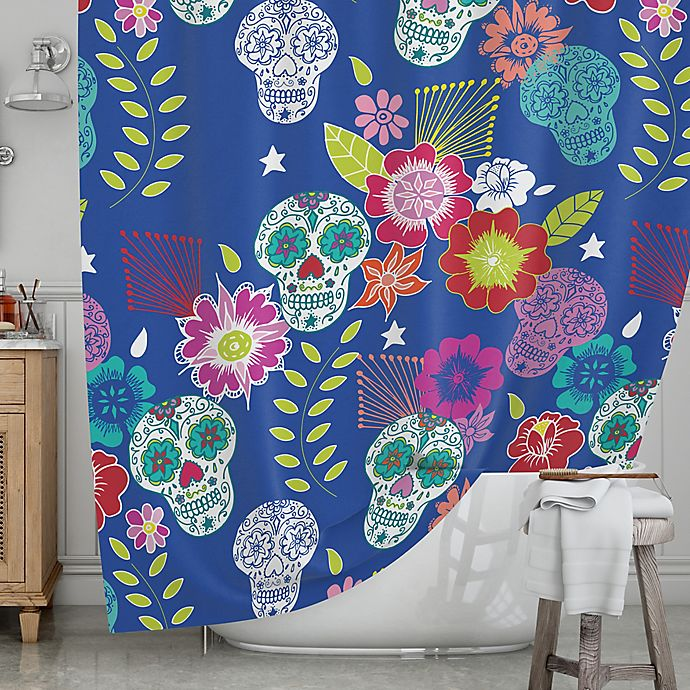 KESS InHouseR Day Of The Dead Shower Curtain
