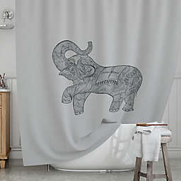 KESS InHousereg Elephant Shower Curtain