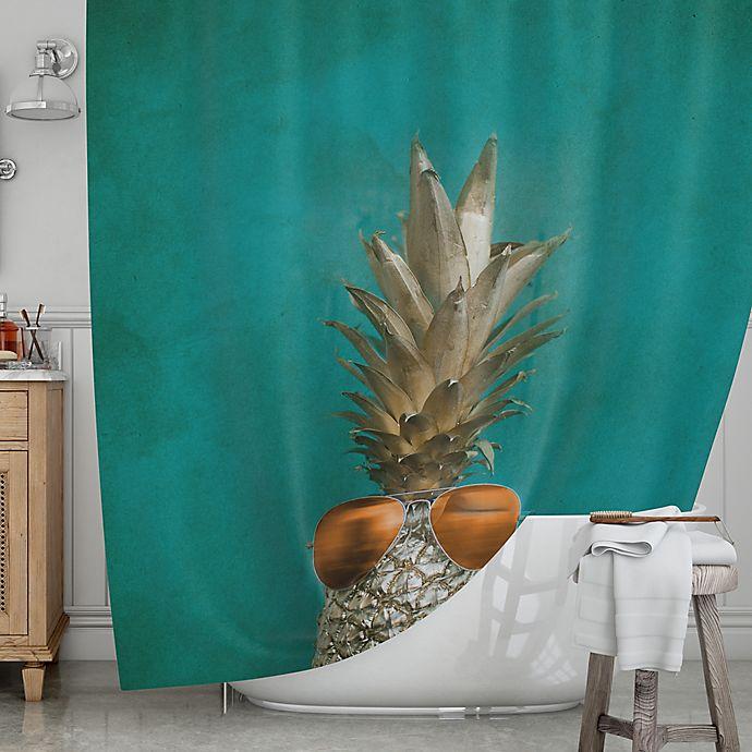 Alternate image 1 for KESS InHouse® 24 Karat Pineapple Shower Curtain