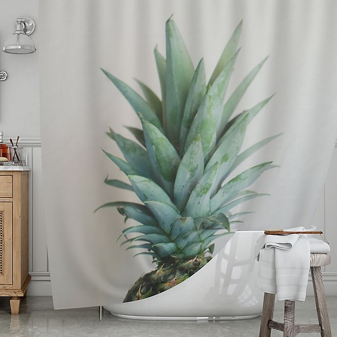 Alternate image 1 for KESS InHouse® The Pineapple Shower Curtain