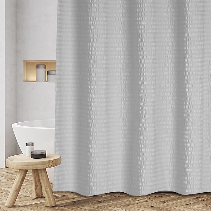 Alternate image 1 for Sheer Sucker 72-Inch x 70-Inch Shower Curtain in Grey