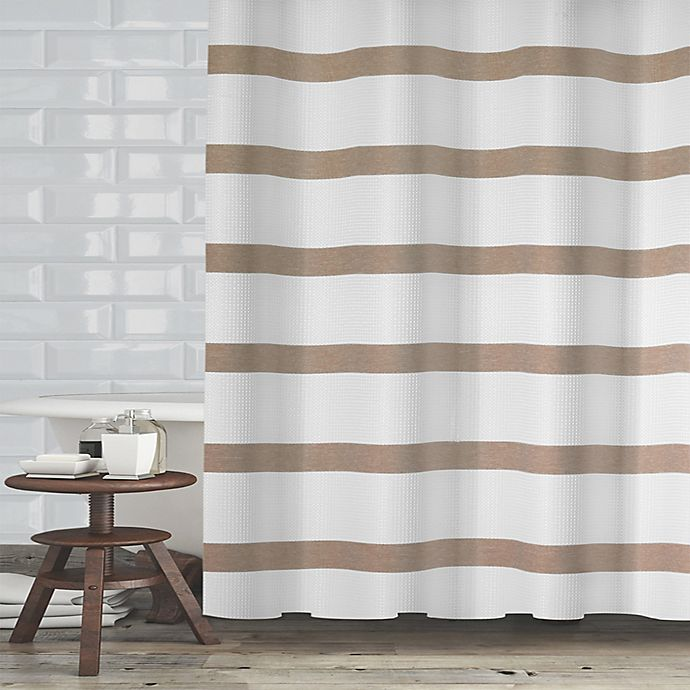 Alternate image 1 for Maluberry 72-Inch x 70-Inch Shower Curtain in Taupe
