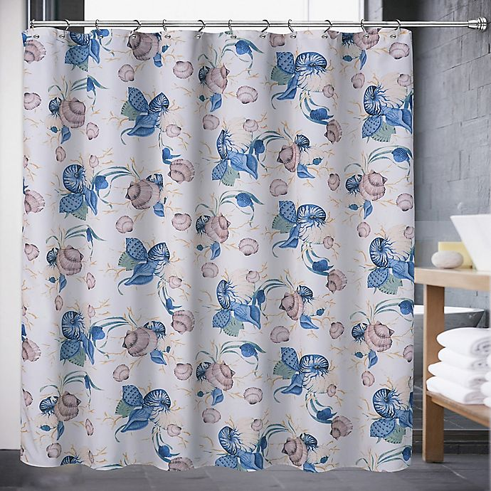 Alternate image 1 for Color Shell 72-Inch x 70-Inch Shower Curtain in Blue