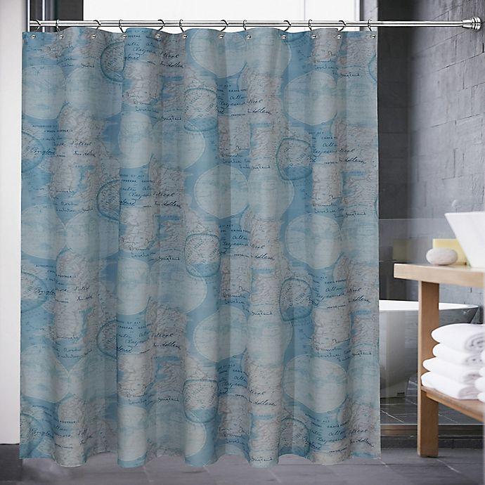 Atlas 72 Inch X 70 Shower Curtain In Blue