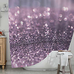 KESS InHousereg Lavender Sparkle Shower Curtain
