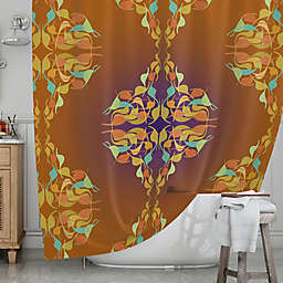 KESS InHouse® Purple Feast Shower Curtain