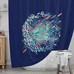 KESS InHousereg Underwater Life Shower Curtain
