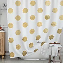 KESS InHousereg Scattered Gold Shower Curtain
