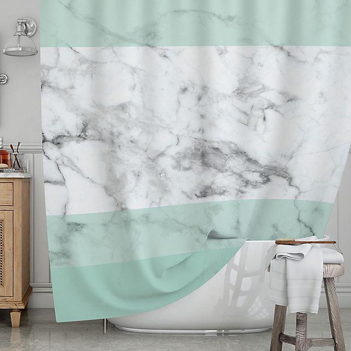 KESS InHouseR Mint Marble Fade Shower Curtain