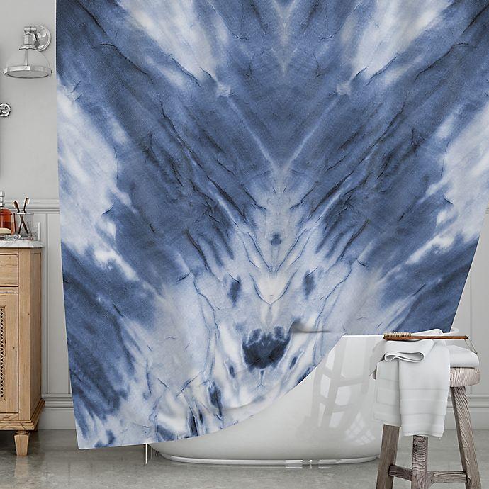Alternate image 1 for KESS InHouse® Blue Dye Shower Curtain