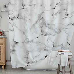 KESS InHousereg White Marble Shower Curtain