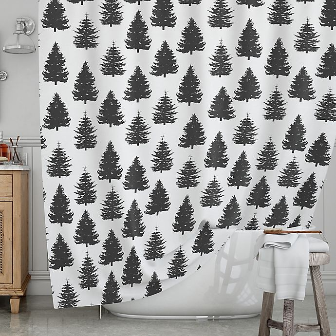 Alternate image 1 for KESS InHouse® Pine Forest Shower Curtain
