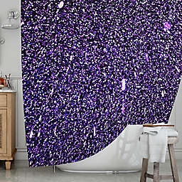 KESS InHousereg Purple Dots Shower Curtain