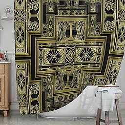 KESS InHousereg Golden Art Deco Shower Curtain