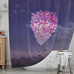 KESS InHouse® Never Stop Exploring Shower Curtain