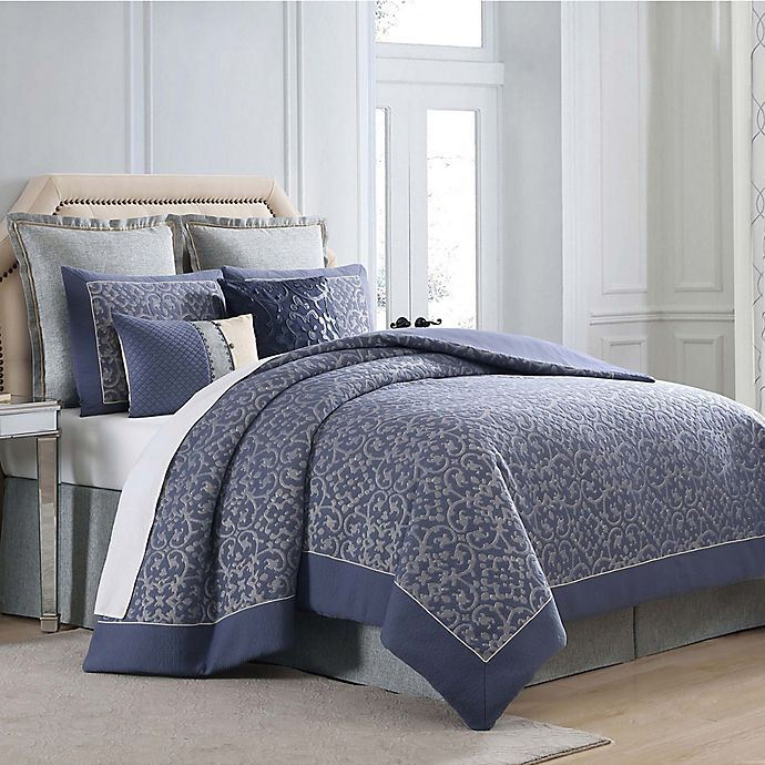 Alternate image 1 for Charisma Villa Comforter Set in Blue/Silver