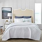 Coastal Living® Coral Embedded Reversible King Quilt Set in White