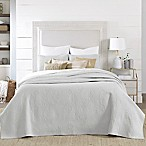 Coastal Living® Coral Embroidered Full/Queen Quilt Set in Grey