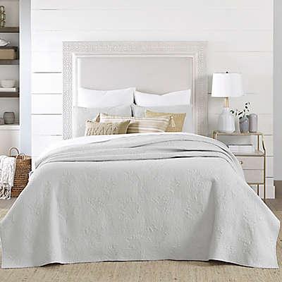 Coastal Living® Coral Embroidered Quilt Set