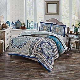 Surya Boho Boutique 2-Piece Reversible Twin XL Comforter Set in Blue