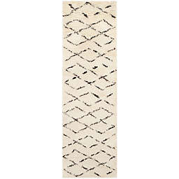 Safavieh Casablanca Harmony 2'3 x 6' Runner in Ivory/Brown