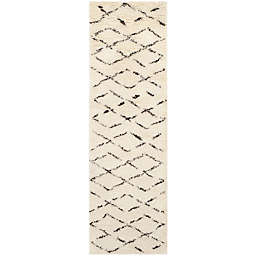 Safavieh Casablanca Harmony 2'3 x 12' Runner in Ivory/Brown