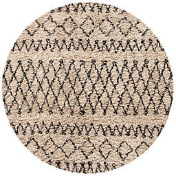 Safavieh Casablanca Hannah  6' Round Area Rug in Ivory/Natural