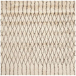 Safavieh Casablanca Dakota 6' Square Area Rug in Ivory/Grey