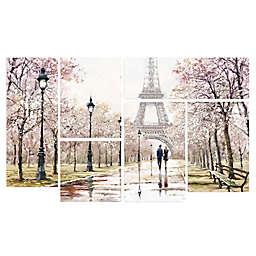 Trademark Fine Art Eiffel Tower 5-Piece Multi-Panel Canvas Wall Art