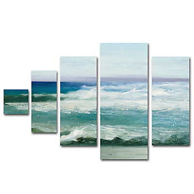 Trademark Fine Art Azure Ocean Multi-Panel Canvas Wall Art