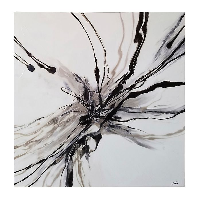 Alternate image 1 for Ren-Wil Stamen 40-Inch Square Canvas Wall Art in Black/White