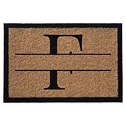 Infinity Monogram Letter Door Mat in Natural