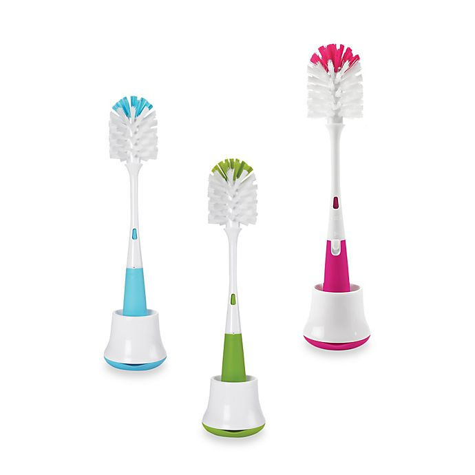 Alternate image 1 for OXO Tot® Bottle Brush with Nipple Cleaner & Stand